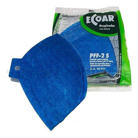 Máscara descartável PFF2 sem válvula Ecoar- Plastcor