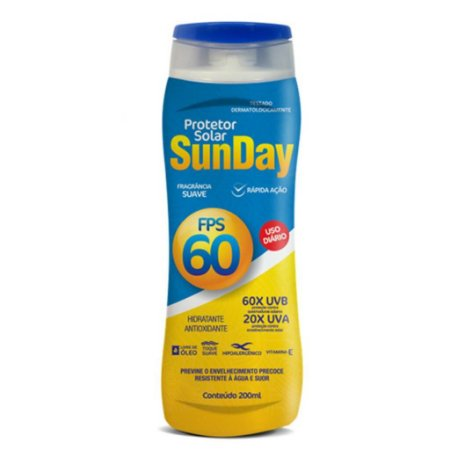 Protetor Solar FPS 60 Sunday 200ml - Nutriex