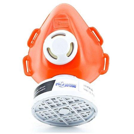 Respirador 1/4 Facial com cartucho VO + GA CA 39428 - Plastcor