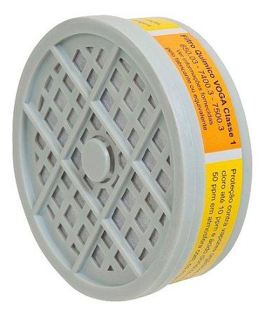 Filtro químico para vapores orgânicos e gases ácidos - Plastcor