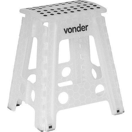 Banqueta plástica dobrável 450 mm de altura Vonder