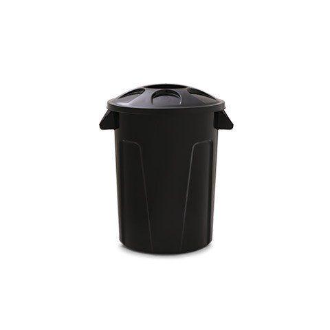 Cesto para lixo 60 litros com tampa Preto