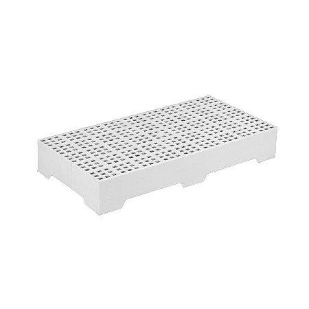 Estrado plástico 41x82cm Branco