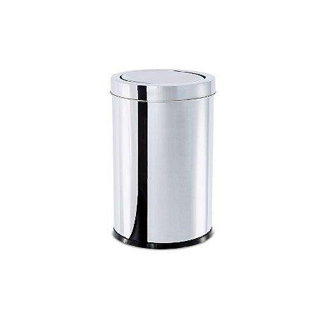 Lixeira Inox Tampa Basculante 21 litros Ø 25 x 46 cm Brinox