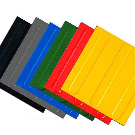 Piso Tátil Direcional 25x25cm em PVC