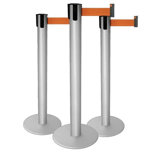 Pedestal Organizador de Fila com Fita Retrátil