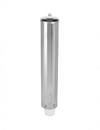 Dispensador em aço inox para copos de água de 180 e 200ml