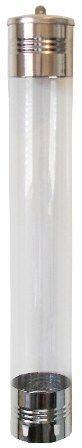 Dispensador em PVC com inox para copo de água 180/200ml ou café 50ml