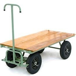 Carrinho plataforma lastro em madeira, rodas maciças