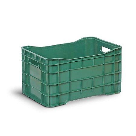 Caixa plástica fechada tipo hortifruti
