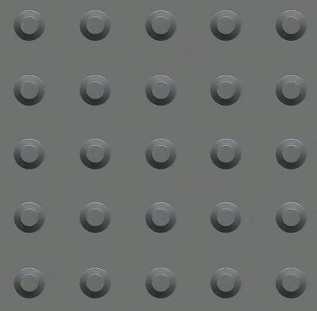 Kit 10 Piso Tátil Alerta 25x25cm em PVC Cinza