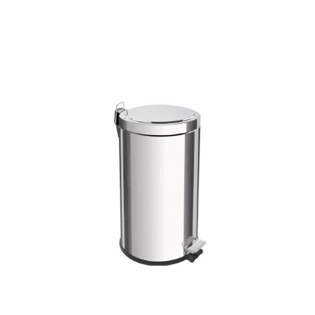 Lixeira inox com pedal Tramontina Brasil acabamento polido balde interno removível 20 litros