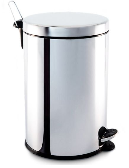 Lixeira em aço inox com pedal e balde 20 litros