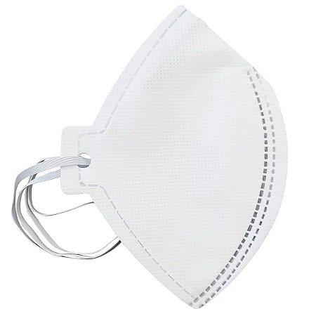 Kit com 02 Máscaras Descartáveis Pff2 N95 CA 38811 Sem Válvula Branca Plastcor