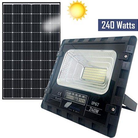 Kit Refletor Holofote 240w Solar + Placa Branco Frio Ip67 - 81371