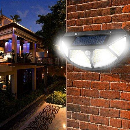 Luminária Solar Externa 25w 102 Leds Acendimentos Automático - 82931