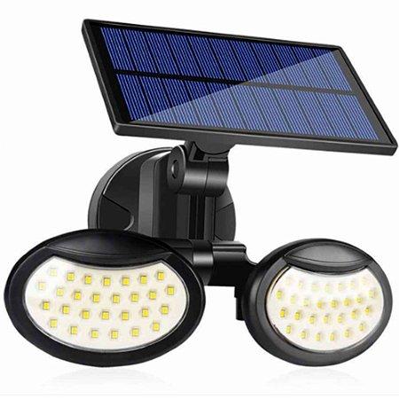 Luminária Solar LED de Parede 30W 56 LEDS Acendimento Automático - 81506