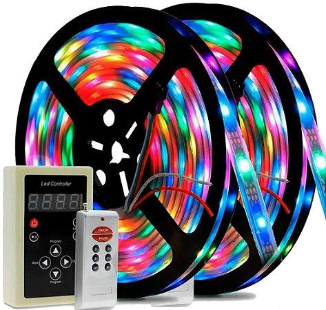 Fita Led Digital 10m Rgb Ip68 Colorida Á Prova D'água 6803 329 Efeitos - 81374