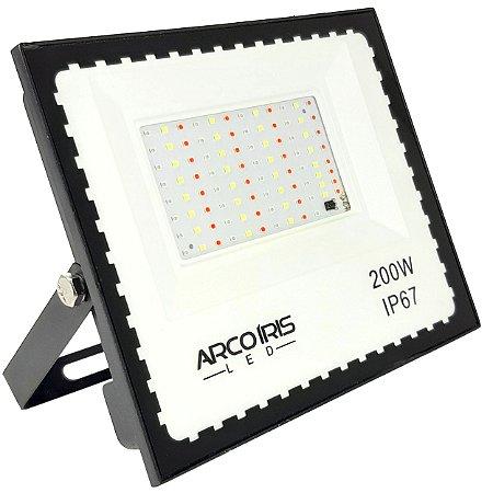 Refletor Led 200w Colorido Rgb 16 Cores Com Controle Ip67 - 81307