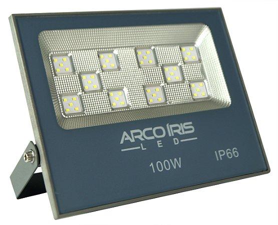 Refletor Super LED 100W Bivolt Bco Frio Multifocal - 61002