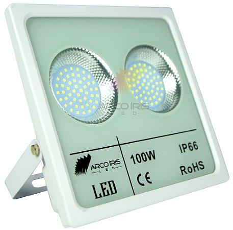 Refletor Holofote Micro Smd 100w IP66 Branco Frio - 82899