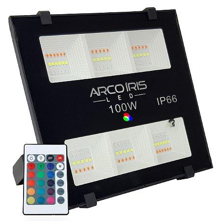 Refletor Microled 100w Rgbw Colorido IP66 - 82729