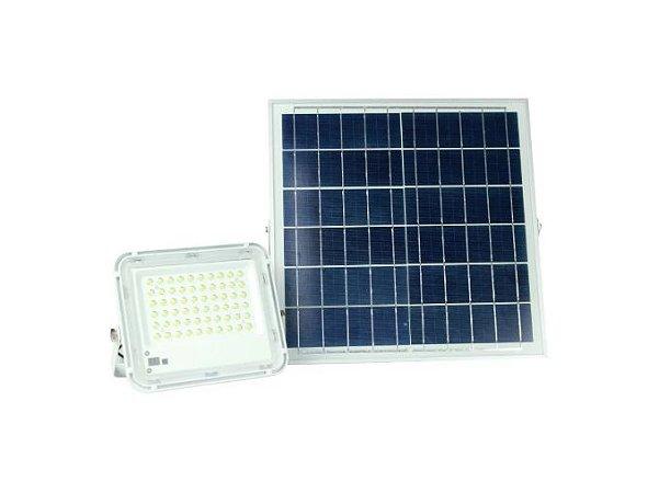 Kit Refletor De Led 60w + Placa Solar Fotovoltaica - 83007