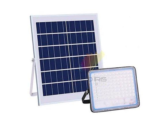 Refletor Led Holofote 200w + Painel Placa Solar Completo Ip67  - 82920