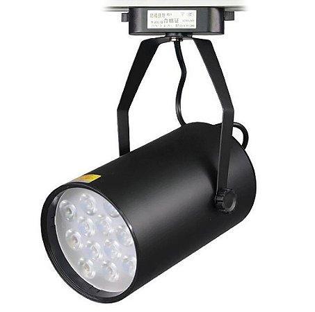 Spot Luminária LED Cob de Trilho 7W Branco Frio Preto - 82183