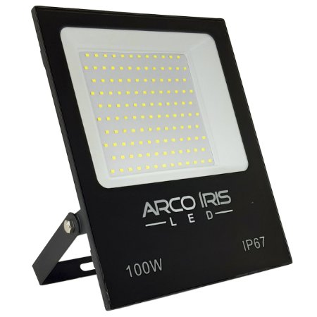 Refletor Holofote Super Microled 100w Branco Frio IP67 - 66002