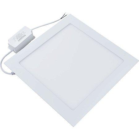 Painel Plafon Quadrado Embutir 18W Ultra Slim Branco Frio - 81331