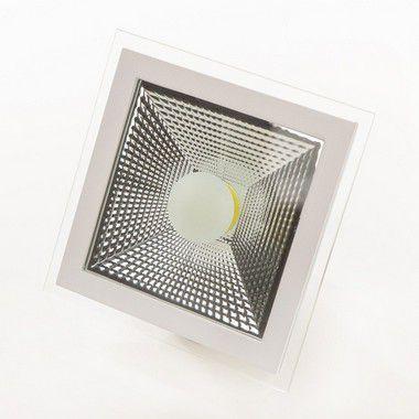 Spot de Led 5 WTS Cob Down Light Branco Frio Quadrado - 80908