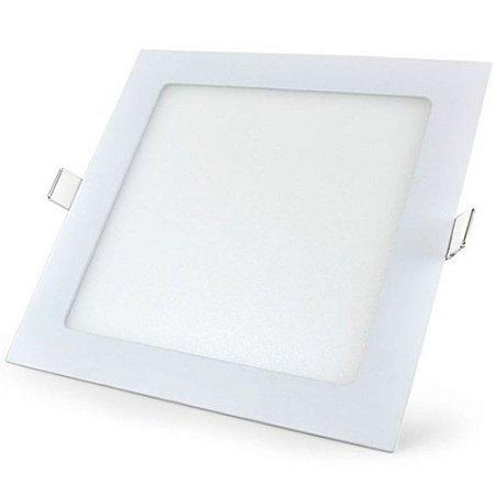 Plafon Led Quadrado Embutir Ultra Slim 12w  Branco Quente - 81206-1