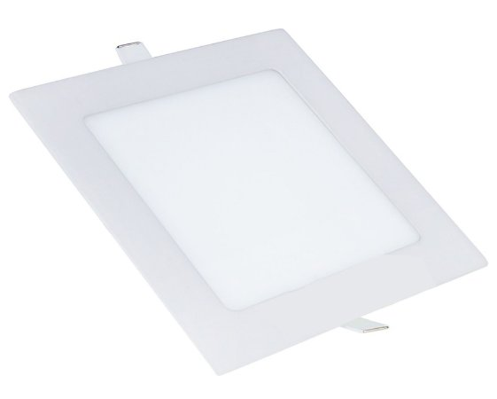 Plafon Led 12w Quadrado Embutir Ultra Slim Branco Frio - 81206