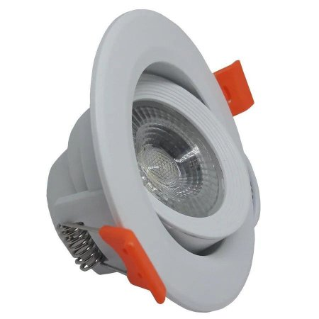 Spot LED 7w Redondo de Embutir Branco Quente - 81201
