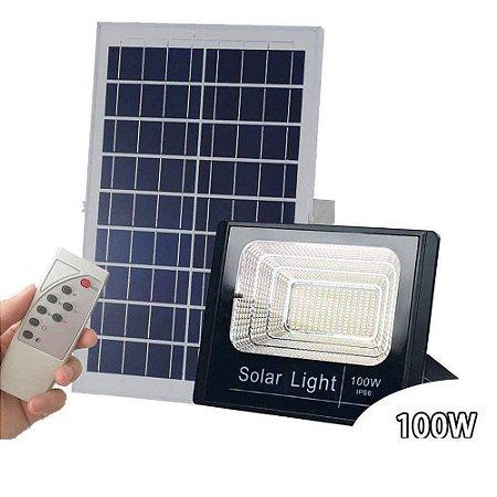 Refletor Solar Led 100w C/ Placa Painel Solar Fotovoltaico  - 82180