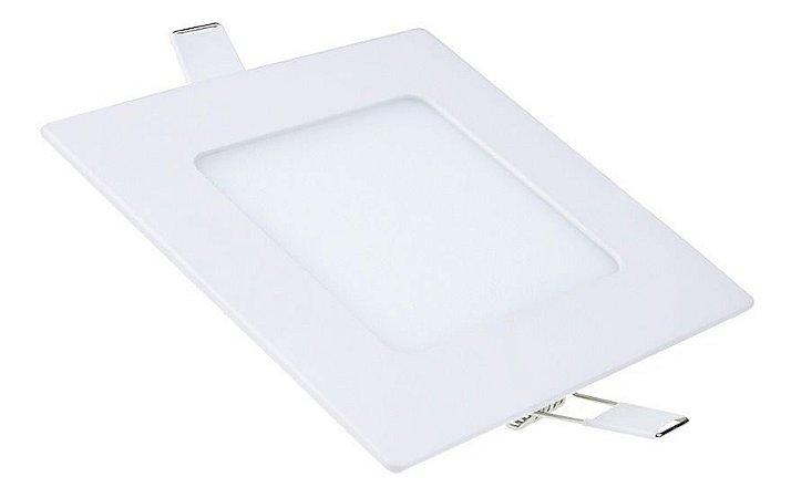 Plafon Led 6w Quadrado Embutir Branco Frio - 81762