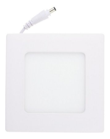 Plafon Led 6w Quadrado Embutir Branco Quente - 81762-1