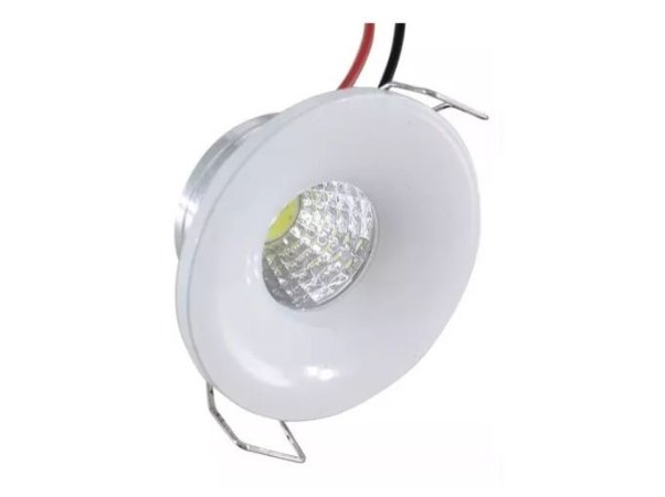 Mini Spot LED 3W Redondo Branco Frio - 81907