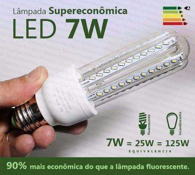 Lampada Led 7w Milho E27 Bivolt 3200k Branco Quente - 81711