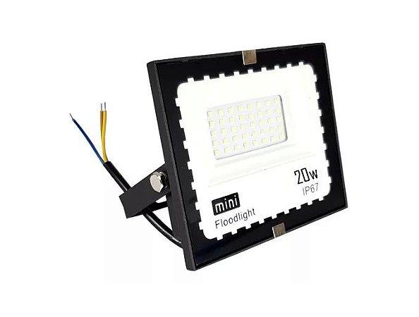 Refletor Microled Led 20w Bivolt Ip67 Branco Frio - 83050