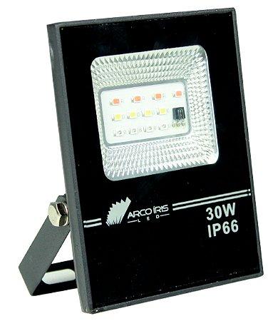 Refletor RGB 30W Microled Preto IP66 - 82871