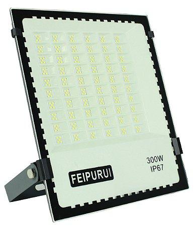 Refletor Microled Cinza 300w Flood Light Branco Frio - 82987