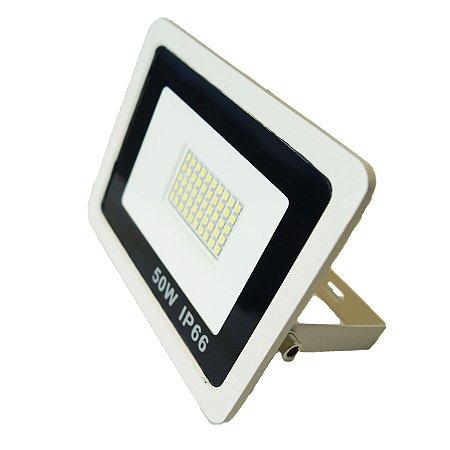 Refletor Led Mini 50W IP66 Branco Frio Bivolt Branco - 66004