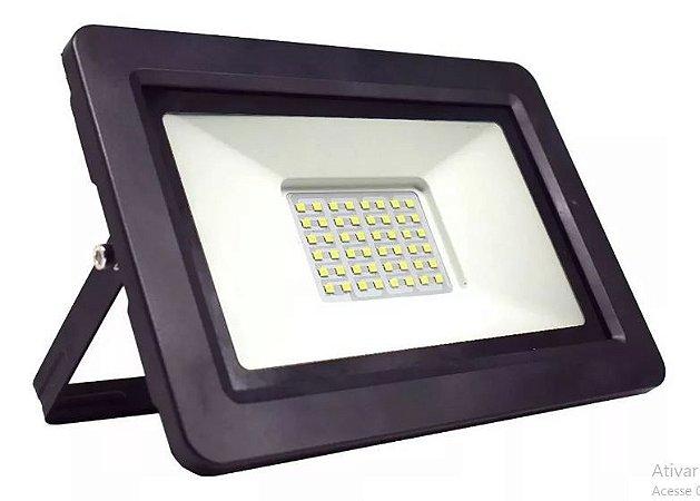 Refletor Led 200w MicroSmd Branco Frio Ip66 Preto - 66006-1