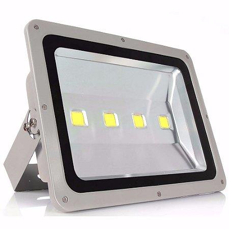 Refletor Holofote Led 200w IP66 Branco Frio Cinza - 81226