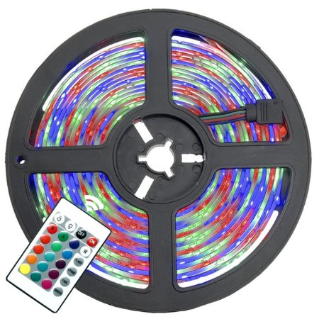Fita LED RGB Colorida 5 Metros 5050 Decorativa + Fonte de Alimentação - 82539