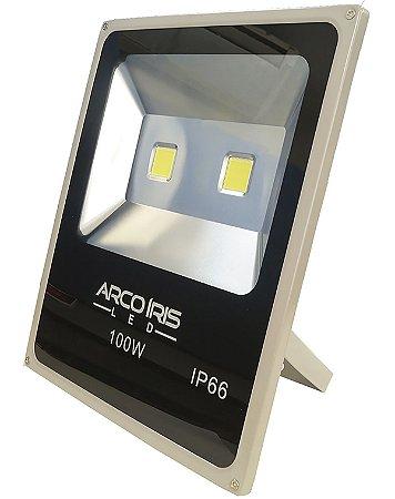 Refletor Holofote Led 100w IP66 Branco Frio Cinza - 81505
