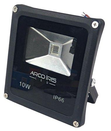 Refletor Led 10w  RGB Com 16 Cores e Controle IP66 Preto - 81351