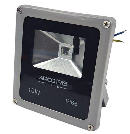 Refletor Led 10w  RGB Com 16 Cores e Controle IP66 Cinza - 81351
